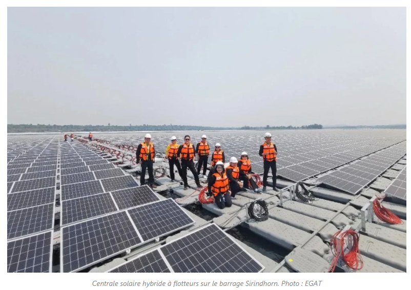 Centrale solaire hybride à flotteurs sur le barrage Sirindhorn