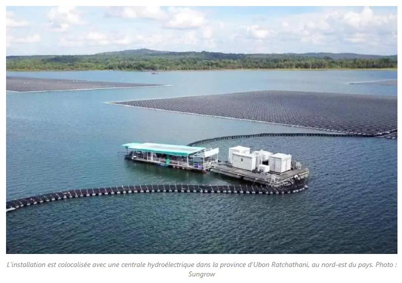 L'installation est colocalisée avec une centrale hydroélectrique dans la province d'Ubon Ratchathani, au nord-est du pays