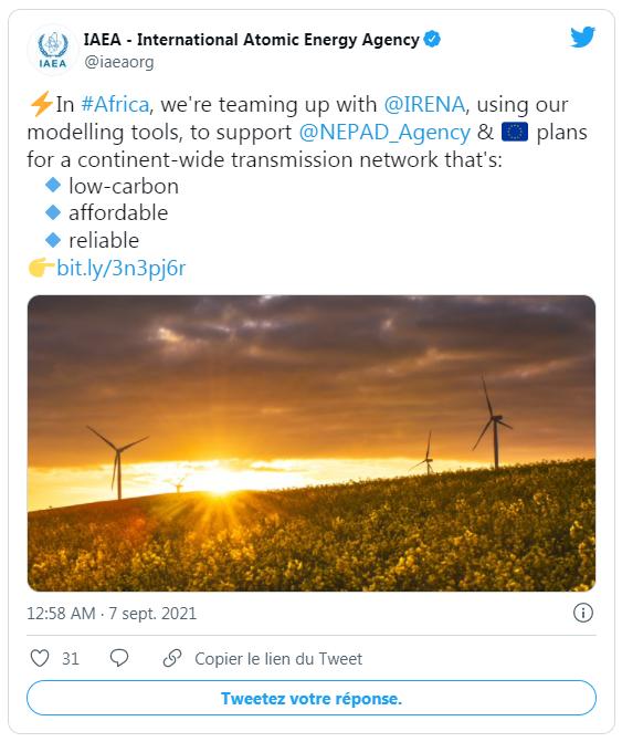 L'IRENA et l'AIEA dirigeront l'élaboration du plan directeur pour l'électricité en Afrique